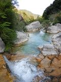 Creek Rio Barbaira in Rocchetta Nervina, Liguria - Italy Stock Photography