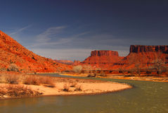 Canyon and River. Moab and the mighty Colorado royalty free stock photo