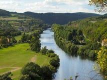 Canyon of river Berounka Stock Photo