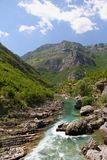 Canyon River Cijevna. River Cijevna Montenegro wild beauty mountains Royalty Free Stock Photo