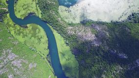 Canyon of river Crnojevica, Montenegro, aerial view. stock footage