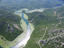 Canyon of river Crnojevica, Montenegro. Royalty Free Stock Photo