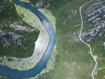 Canyon of river Crnojevica, Montenegro. Stock Photos