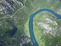 Canyon of river Crnojevica, Montenegro. Royalty Free Stock Images