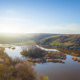 Canyon river at the early morning Royalty Free Stock Image