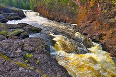 Canyon river in Finland. Royalty Free Stock Photo