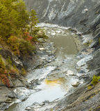 Canyon with river La blanche Torrent Royalty Free Stock Photography
