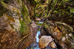Canyon and river Stock Photos