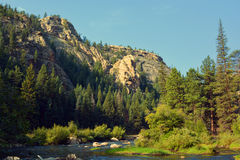 Canyon River in Mountains Stock Images