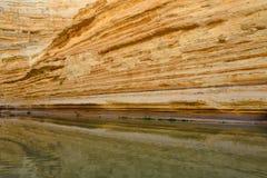 Canyon river. In the National park Ein Avdat. Negev Desert. Israel Stock Image