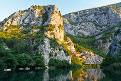 Canyon of the River near Split Royalty Free Stock Image