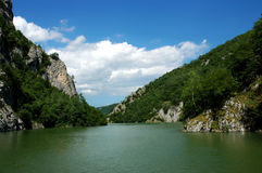 Canyon of river Uvac in Serbia Royalty Free Stock Photos