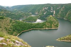 Canyon of the River Uvac in Serbia Stock Photo