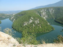 Canyon of river  Vrbas Stock Images