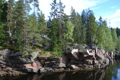 Canyon River Vuoksa Royalty Free Stock Photos