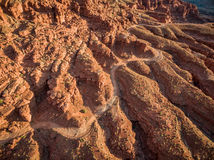 Canyon road aerial view Stock Photos