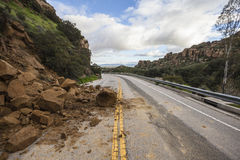 Canyon Road Landslide Los Angeles California Stock Image