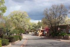 Canyon Road, Santa Fe. The beauty of Canyon road in Santa Fe Stock Photography