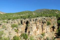 Canyon roccioso del fiume fotografie stock libere da diritti