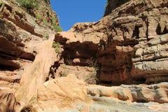 Canyon rocheux sec de rivière Image libre de droits