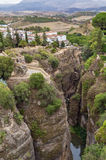 Canyon in Ronda, Spain Royalty Free Stock Photography
