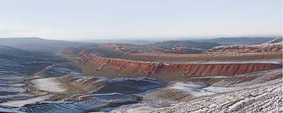 Canyon rosso, panorama del Wyoming Fotografia Stock Libera da Diritti