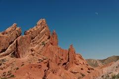 Canyon rouge dans les montagnes Photo libre de droits