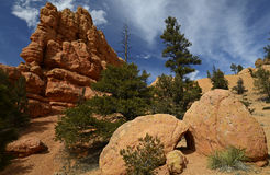 Canyon rouge, Utah, Etats-Unis Photos stock