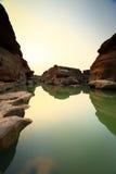 Canyon. Sampanbok Grand canyon of Thailand Royalty Free Stock Images