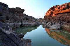 Canyon. Sampanbok Grandcanyon of Thailand Royalty Free Stock Photography