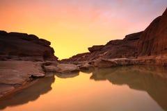 Canyon. Sampanbok Grandcanyon of Thailand Stock Photo