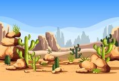 Desert scenery or american canyon landscape royalty free illustration