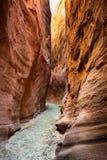 Canyon sec de fente de fourchette Image libre de droits