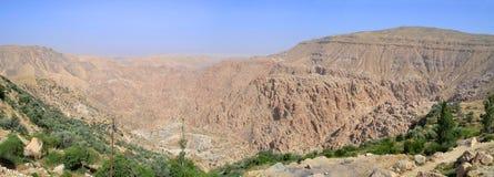 Canyon of Selah. Biblical Selah in the desert of Jordan stock photo