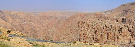 Canyon of Selah. Biblical Selah in the desert of Jordan royalty free stock photo