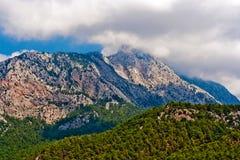 Canyon selvaggio della montagna Fotografia Stock