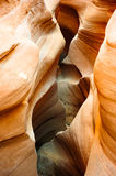 Canyon semi-transparent de fente images libres de droits