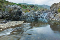 Canyon siciliano Fotografie Stock Libere da Diritti