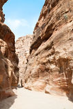 Canyon Siq, road to Petra Stock Photo