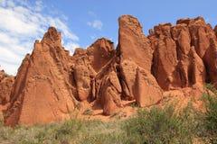 Canyon Skazka (Fairy Tale), Kyrgyzstan Stock Images