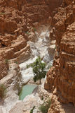 The canyon and a small pool of water Stock Photography