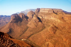 Canyon in South Africa. Aerial view of Canyon in South Africa Royalty Free Stock Photos