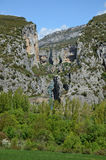 Canyon spagnolo famoso Foz de Lumbier Fotografia Stock