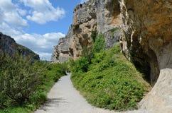 Canyon spagnolo famoso Foz de Lumbier Immagine Stock Libera da Diritti