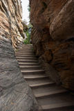 Canyon Stairway. Stairway in a canyon royalty free stock images