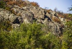 A canyon stones. View of Aktovskiy Canyon, Nikolaev region, Ukraine Royalty Free Stock Photo
