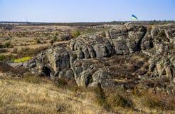 A canyon stones. View of Aktovskiy Canyon, Nikolaev region, Ukraine Royalty Free Stock Photos