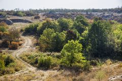 A canyon stones. View of Aktovskiy Canyon, Nikolaev region, Ukraine Royalty Free Stock Photography