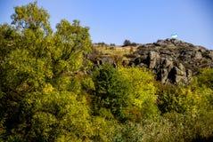 A canyon stones. View of Aktovskiy Canyon, Nikolaev region, Ukraine Stock Photography