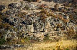 A canyon stones. Wide view of Arbuzinskiy Canyon, Nikolaev region, Ukraine Royalty Free Stock Images